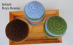 infant boys beanie free crochet pattern