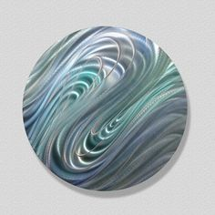 Modern Metal Abstract Painted Circle Wall Art by statements2000, $125.00