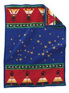 Chief's Road Crib Blanket