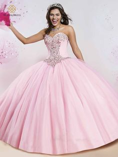 Cheap ball gowns quinceanera dresses, Buy Quality sweet 16 dresses directly from China quinceanera dresses Suppliers: 2016 Sweet Crystals Beads Ball Gown Quinceanera Dresses With Jacket Tulle Floor-Length Vestidos De 15 Anos Sweet 16 Dresses Robes Quinceanera, Pretty Quinceanera Dresses, Sweet 15 Dresses, Pretty Dresses, Stunning Dresses, Beautiful Gowns, Quince Dresses, Formal Dresses, Formal Prom