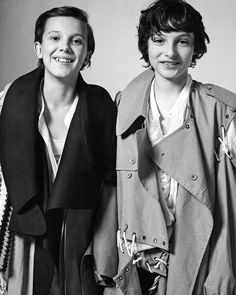 Finn Wolfhard and Millie Bobby Brown in the photoshoot for DAZED magazine (2016)