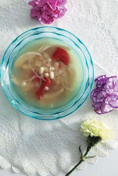 Suppe med bønner og nudler