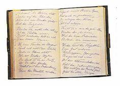 OBJET AYANT APARTENUE A L'IMPERATRICE ELISABETH - Son journal poétique.