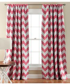 Look at this Pink Chevron Blackout Curtain Panel - Set of Two on #zulily today!