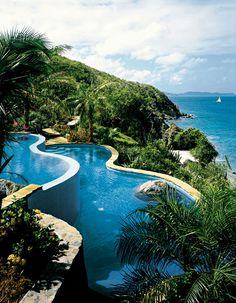 Free Form Pool with view of the ocean / Virgin Gorda BVI