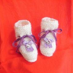 Scarpette scarpine neonato fatte a mano