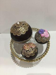 Esferas de chocolate