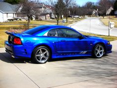 MY 2003 SONIC BLUE S281SC #170 Saleen Mustang, 2003 Ford Mustang, Mustang Cobra, Ford Mustangs, Ford Gt, New Edge Mustang, Vintage Mustang, Street Racing Cars, Ford Parts