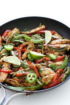 Thai Chicken Basil Stir Fry via Sandra Angelozzi
