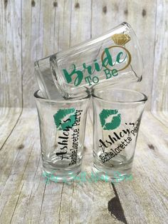 DIY Vinyl Decal Shot Glass Bachelorette Party Last By Eventees - Custom vinyl decals for glass