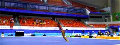 The height she gets is just insane! (gif of Simone Biles' double-double)