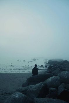 I love the feeling of solace and solitude that this image presents. I want to be there, that person - lost in the mist.