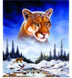 Chris Hiett Poster Print Wall Art Print entitled Mountain Lion, None