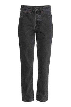 Vintage High Cropped Jeans - Ciemnoszary - ONA | H&M PL 1