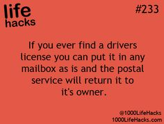 same thing with a cell phone, the post office will return it to the provider who will then contact you