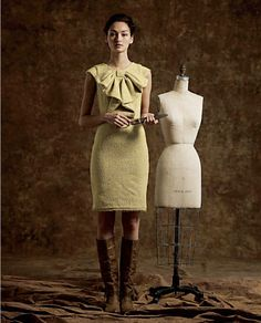 Yellow dress with giant bow #AnthroFave