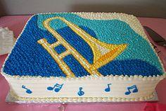 trombone cake - Google Search