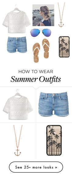 """""""Beach Outfit"""" by tr-10c on Polyvore featuring Chicwish, Frame Denim, Minor Obsessions and Casetify"""