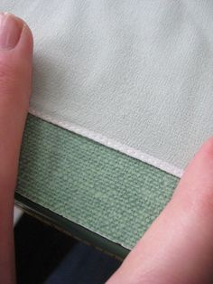 The easy way to a neat, teeny tiny hem #sewing .. good to know.