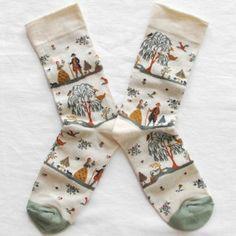 Funky Socks, Crazy Socks, Cute Socks, Happy Socks, Tartan, Cotton Socks, Ladies Dress Design, Sock Shoes, Hosiery