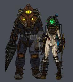 Rapture+Family+-+Bioshock+2+by+Lily-pily.deviantart.com+on+@DeviantArt