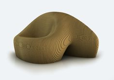 Eco-Modern Cool: made using layers of corrugated cardboard. by Simone Carminati for Gruppo Pozzi S.r.l.