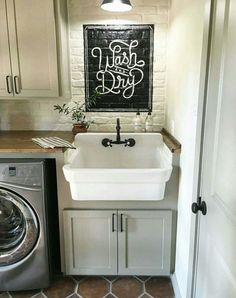 Painted Sign over the Farmhouse Sink