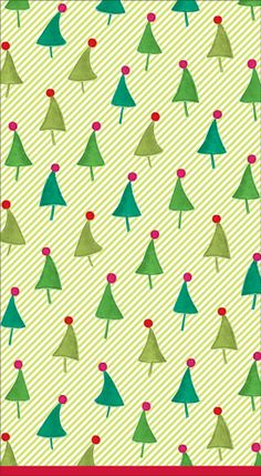 Caspari Dancing Trees Holiday Christmas Printed 3-Ply Paper Guest Towels Wholesale 12810G  sc 1 st  Pinterest & Caspari Christmas Ornament Trellis Printed Paper Dinner Plates ...