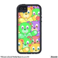 Vibrant colored Teddy Bears iPhone 5 Cover