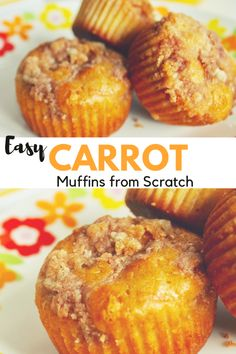 Make delicious Carrot muffins from scratch with this easy Carrot Muffin Recipe. … Make delicious Carrot muffins from scratch with this easy Carrot Muffin Recipe. Topped with a cinnamon crumble and delicious for a breakfast bread or brunch side. Carrot Muffins Easy, Homemade Muffins, Healthy Muffins, Muffin Recipes, Easy Recipes, Bread Recipes, Carrot Bread Recipe, Milk Recipes, Potato Recipes