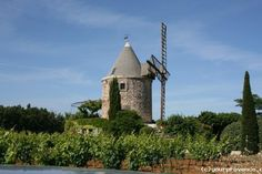 A 'villa' which is actually an old windmill in the Luberon, Provence ... We spent our honeymoon here and hope to return one day