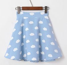 We ship this item for FREE after 2 days of your payment. Excellent Moooh!! customer service is included in the price too !!  Ultra high waist cotton cloudy skirt. Vintage style inspired. Choose between 2 colors.  Style: A-line silhouette Elastic waist Size: Waist 54 - 80cm; Hip 100cm; Lengt...