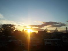 Sunrise view from Benteng Hotel, Bukittinggi