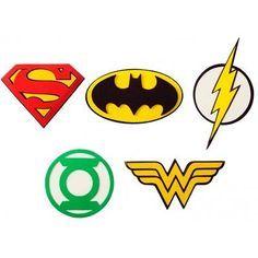 símbolos dos super heróis para fazer decoupage imprimir - Pesquisa Google