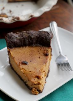 With an infusion of maple and bourbon, and a rich chocolate crust, this pumpkin pie is bound to be a holiday favorite!