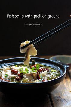 Szechuan Flounder with Sour Cabbage Soup