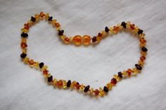 Amber necklace baroque necklace kid necklace by LovelyCraftsHome Kids Necklace, Amber Necklace, Beaded Necklace, Necklaces, Dummy Clips, Teething Necklace, Baroque Fashion, Color Mixing, Jewerly