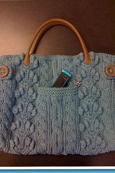 Chunky Aran Bag by Bernat Design Studio Pattern available to be purchased from Bernat