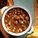Ancho Pork and Hominy Stew Recipe. This pork stew recipe is an easy way to feed your family meat and veggies in one dish.