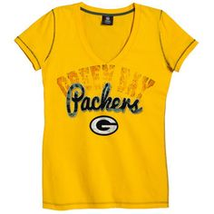 Packers Women's Baby Jersey V-neck T-shirt