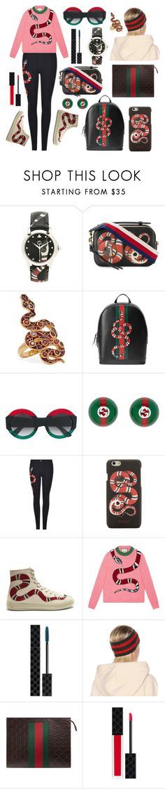 """🐍Gucci Snake🐍"" by karmicakarmen ❤ liked on Polyvore featuring Gucci and Diego Percossi Papi"