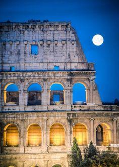 Luna llena en Roma