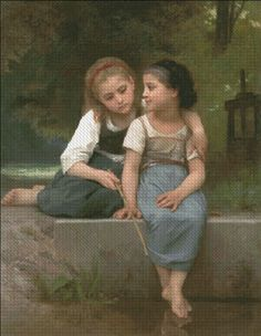 Fishing For Frogs [BOUGUEREAU0061] - $19.00 : Heaven And Earth Designs, cross stitch, cross stitch patterns, counted cross stitch, christmas stockings, counted cross stitch chart, counted cross stitch designs, cross stitching, patterns, cross stitch art, cross stitch books, how to cross stitch, cross stitch needlework, cross stitch websites, cross stitch crafts