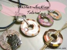 Simple and frugal - DIY washer necklace tutorial