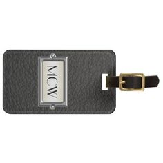 Monogrammed 3-Letter Executive Personalized Travel Bag Luggage Tag, great Men's gift for stocking stuffer, corporate gift or business
