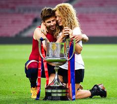 Shakira couldn't contain her excitement in Barcelona on Saturday, May 30, when her husband Gerard Piqué and his FC Barcelona teammates won the Copa del Rey final.