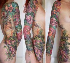 Amazing Floral Full Sleeve Tattoo