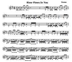 Musica e spartiti gratis per flauto dolce: River Flows in you