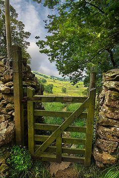 English countryside. Oh, how I would enjoy wandering about there. Reminds me of the Beatrix Potter movie.