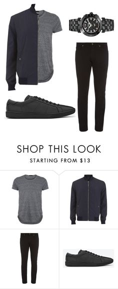NYC by fdaraiza on Polyvore featuring Versace, Yves Saint Laurent, men's fashion and menswear